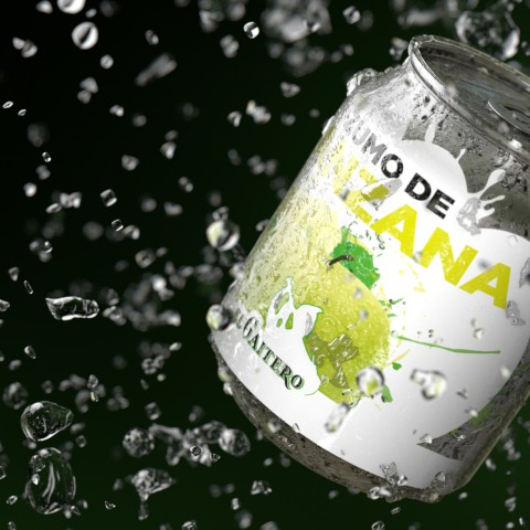 Envase y 'packaging' del refresco Zumo de Manzana
